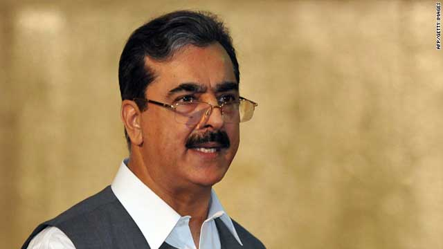 Pakistani Prime Minister Yusuf Raza Gilani will supervise the ongoing rescue and relief efforts (file photo).