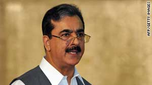 Pakistan Prime Minister Yusuf Raza Gilani denied accusations his country is supporting insurgents attacking U.S. troops (file photo).