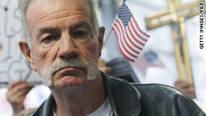 Pastor Terry Jones was denied entry into Britain on Wednesday.