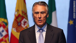 Anibal Cavaco Silva was first elected president of Portugal in 2006. He was re-elected to another five-year term Sunday.