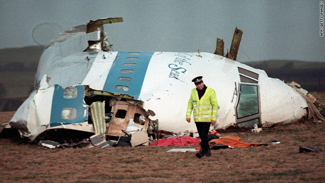 File picture taken on December 21, 1988 shows cockpit of Pan Am 747 that exploded over Lockerbie, Scotland.