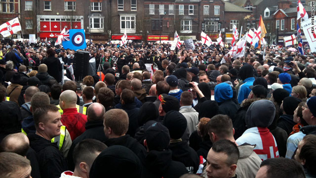Protesters stage anti-Islam demonstration north of London