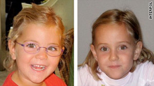 Alessia, left, and Livia Schepp were abducted by their father a week ago.