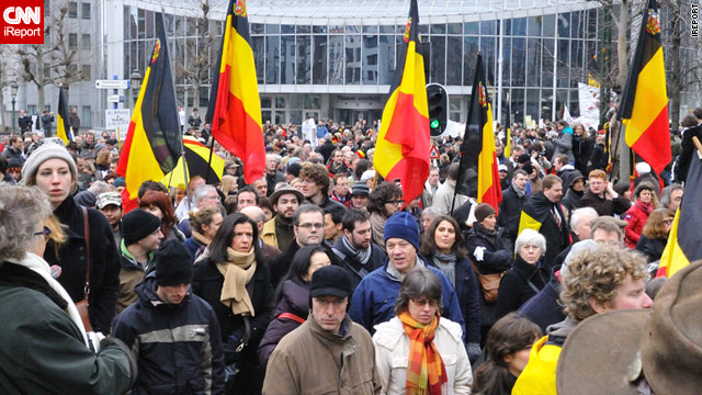 Tens of thousands of Belgians marched through Brussels in late January calling for an end to the political stalemate.