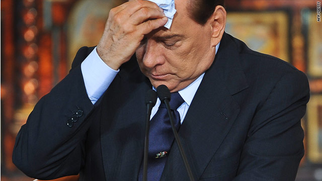 Italian PM Silvio Berlusconi has survived a string of political, corruption and sex scandals since taking office.