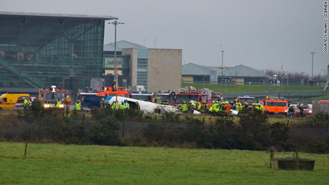 The Metro Liner plane coming from Belfast crashed on its third attempt to land in low visibility at Cork Airport in southern Ireland.