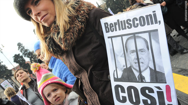Thousands of Italians took to the streets across the country Sunday to protest Berlusconi's alleged behavior toward women.