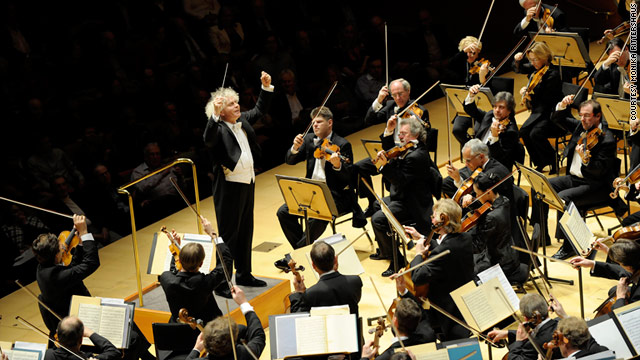 "Simon Rattle, chief conductor at the Berlin Philharmonic since 2002, says ""you cannot tame this orchestra ... it's like a panther."""