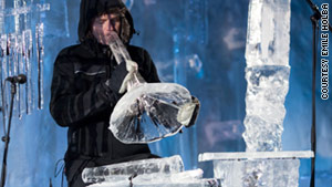 Chilling out with an ice musician
