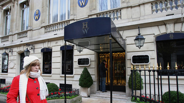 Four armed robbers stole an estimated $111 million worth of gems and money from Harry Winston's store in Paris in 2008.
