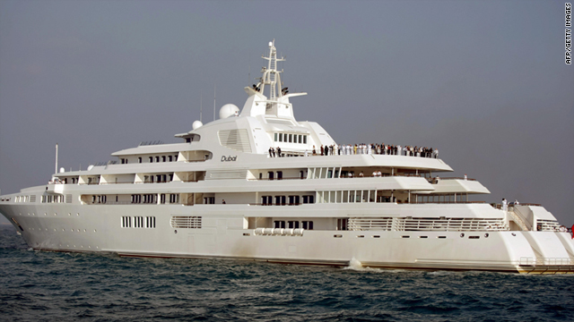 "Dubai's Sheikh Mohammed is the proud owner of the world's second-largest yacht -- imaginatively named ""Dubai."""