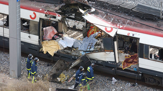 Attacks on four morning-rush commuter trains killed 191 people and injured more than 1,800 in Madrid on March 11, 2004.
