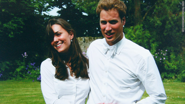 Prince William and Kate Middleton pose for a family photo after their graduation ceremony at St Andrews University in 2005.