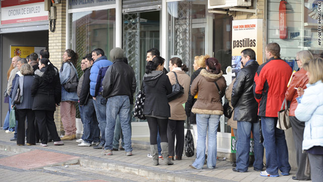 About 4.6 million Spaniards are unemployed, while 1.3 million homes have no one in work.