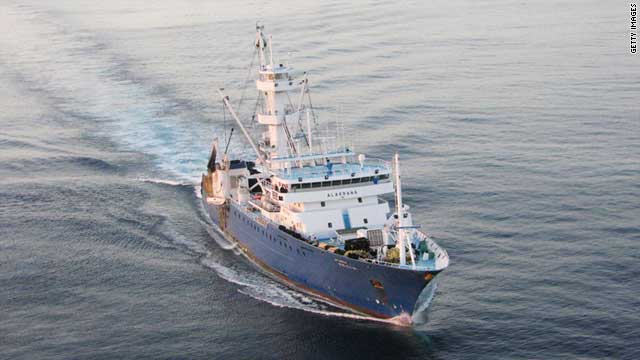 The Alakrana fishing vessel on route to Victoria Port in the Seychelles Islands on November 17, 2009.