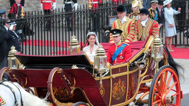Prince William, who is the second in line to the British throne, married Catherine Middleton in London on April 29.