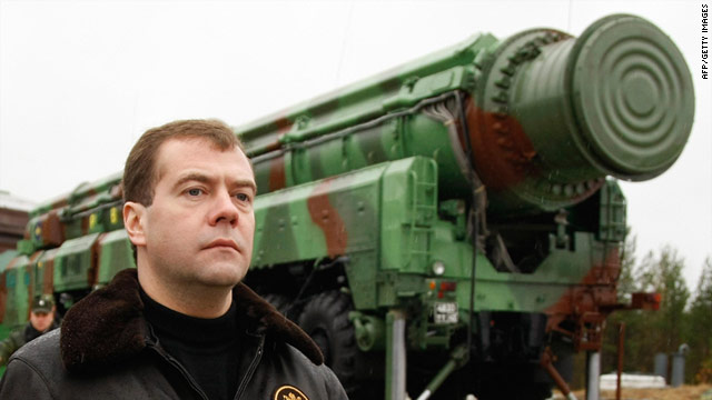 Dmitry Medvedev (file photo) is not convinced that America's Europe-based missile defense system is not aimed at Russia.