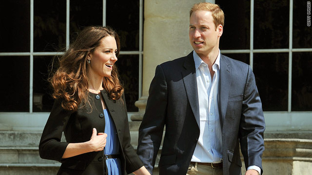 Prince William and Catherine, Duchess of Cambridge, leave Buckingham Palace on April 30, a day after their wedding.