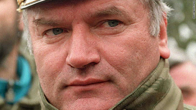 Ratko Mladic (pictured in 1994) is the highest ranking war crimes suspect still at large from the Balkan wars of the 1990s.