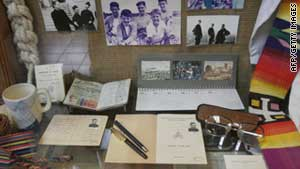 Items of slain Spanish Jesuit Ignacio Ellecuria at the Universidad Centroamericana museum in San Salvador.