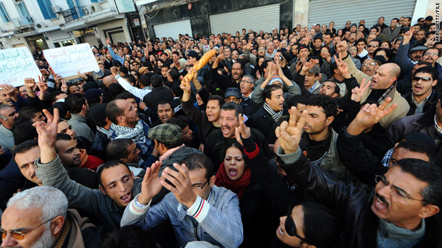 Protests that erupted in December in Tunisia over food prices and unemployment eventually spread around north Africa.