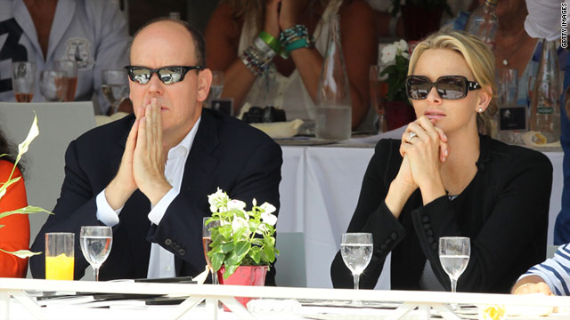 Prince Albert II of Monaco and Charlene Wittstock attend the Global Champion Tour 2011 on June 24 in Monte Carlo, Monaco.