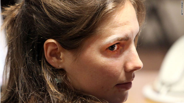 Amanda Knox attends a hearing in Perugia's Court of Appeal on June 27.
