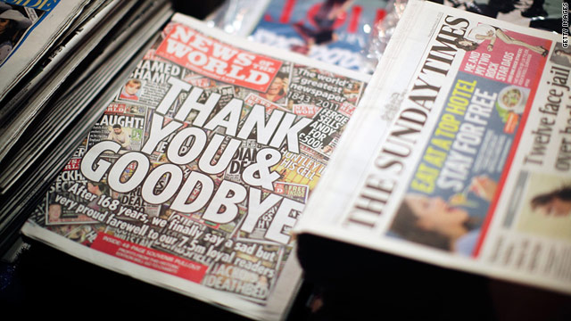 The final edition of News of the World -- Britain's biggest selling newspaper -- rolled off the presses this weekend.