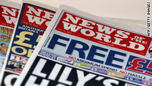 The 168-year-old News of the World published its final edition on July 10 as a result of the phone hacking allegations.