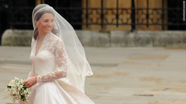 Catherine Middleton on the day of her wedding to Prince William on April 29, 2011.