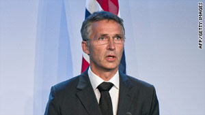 Norwegian Prime Minister Jens Stoltenberg speaks Saturday in Oslo about the shooting rampage and explosion on Friday.