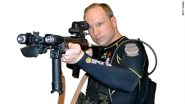 Anders Breivik's purported manifesto says he planned every detail of his rampage, down to this photo being released to media.
