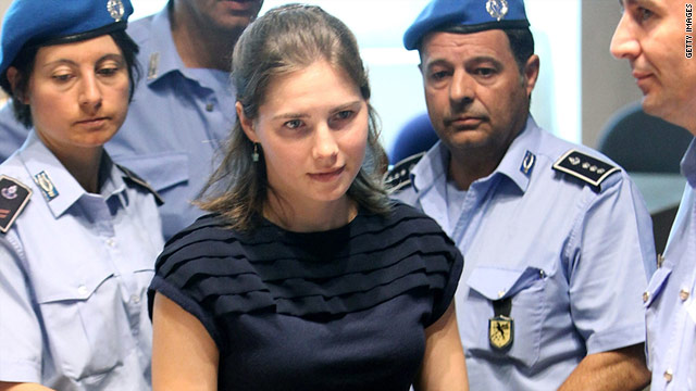 Amanda Knox and her ex-boyfriend were convicted of killing Knox's roommate, Meredith Kercher.