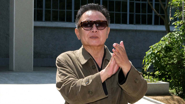 This undated picture shows Kim Jong Il inspecting a machine plant in North Korea's North Pyangan province.