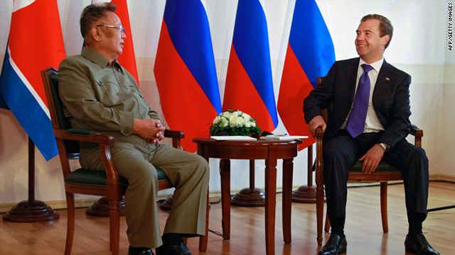 North Korean leader Kim Jong Il and Russian President Dmitry Medvedev meet in Buryatia on Wednesday.