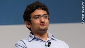 Former Google executive Wael Ghonim, who played a key role in Egypt's revolution, spoke at the One Young World summit.