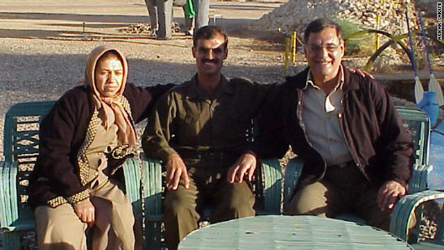 In 2007, Ali Saremi (right) is seen with his son, Akbar Saremi, and wife, Mahin Saremi. Ali Saremi, a political prisoner, was executed last week. Akbar Saremi said his father's body was buried with no funeral service allowed.