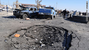 Nine people, including four police officers, were killed in this attack in western Iraq's Anbar province last month.