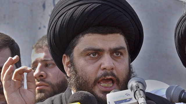 Radical cleric Muqtada al-Sadr has returned to Iraq after three years spent studying in Iran to become an ayatollah.
