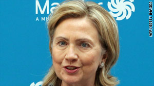"Hillary Clinton said economic sanctions ""have made it much more difficult for Iran to pursue its nuclear ambitions."""