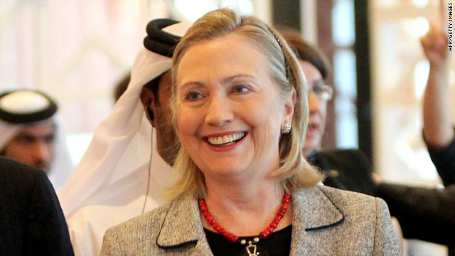 Hillary Clinton warned Middle East leaders not to ignore the voices of their people during a conference in Doha, Qatar.