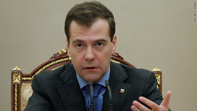 Russian President Dmitry Medvedev cancelled an official visit to Israel this month due to a strike by Foreign Ministry staff.