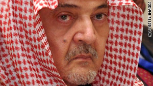 Saudi Foreign Minister Saud al-Faisal attends the opening of the second Arab Economic Summit on Monday.