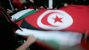 There have been fierce demonstrations in Tunisia.