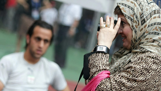 Government officials and clerics say the presence of women at men's sporting events is not compatible with Islam.