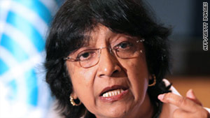 Navi Pillay, U.N. High Commisioner for Human Rights, repeated calls Wednesday for Iran to stop executions.