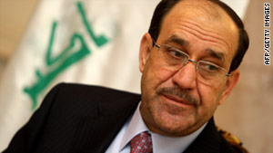 Iraqi Prime Minister Nuri al-Maliki listens to a question during an interview on Saturday.