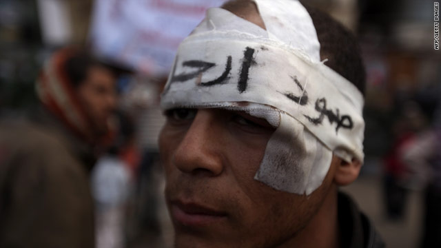 Human Rights Watch says violent crackdowns on recent protests are not limited to the uprising in Egypt (pictured).