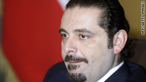 Former Lebanese Prime Minister Saad Hariri said his political bloc would not join the new government now being formed.