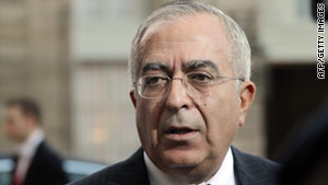 Palestinian  Authority Prime minister Salam Fayyad.